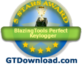 Perfect Keylogger - GTDownload.com 5 stars award!