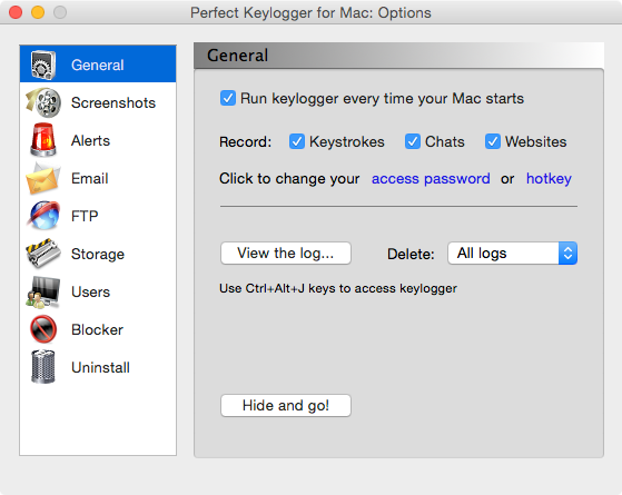 perfect keylogger for mac how to open