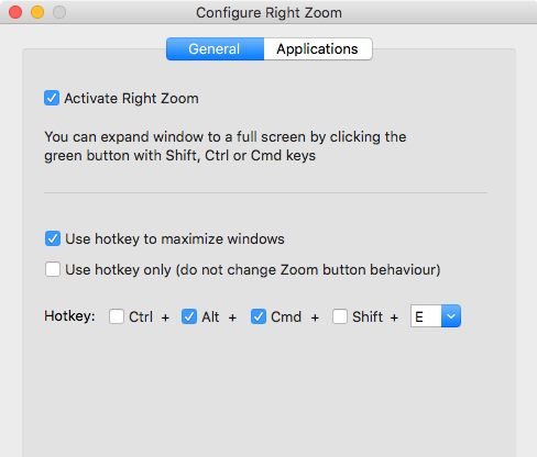 Right Zoom for Mac home page - make your OS X Maximize