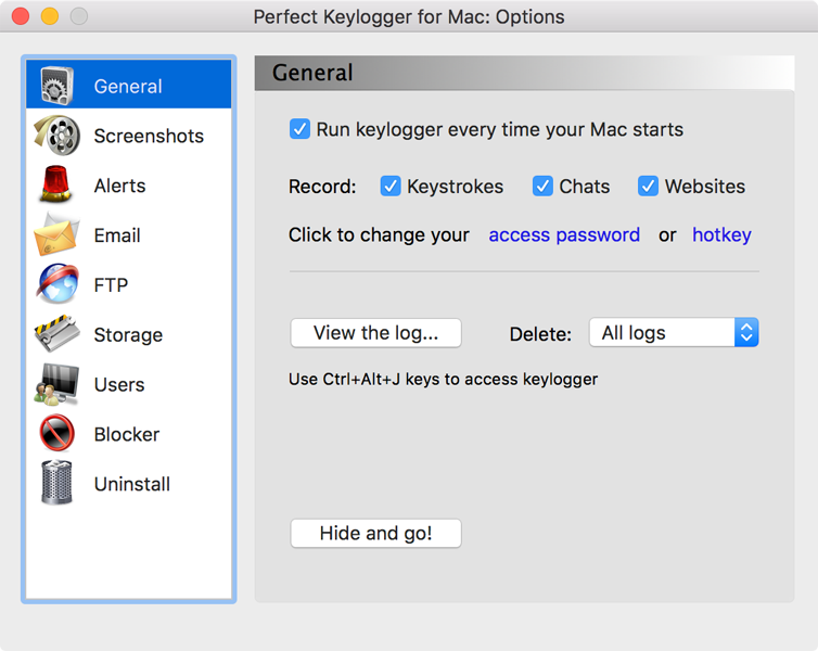 Perfect Keylogger for Mac Pro full screenshot